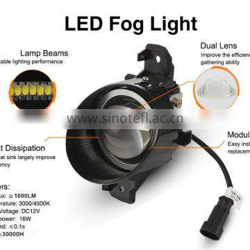 Auto light new LED fog lamp for BMW X1(14-15) customized design, headlight back-up 12v 16w energy saving, easy installation