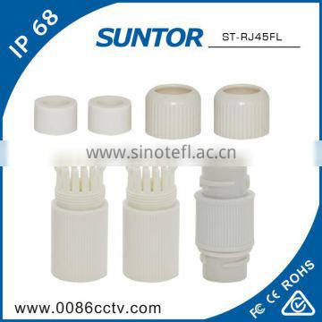 Waterpoof cat5 rj45 connector bush to din cable for wifi router
