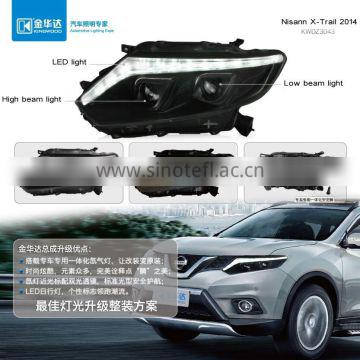 Headlight within high beam light turn light led light x-trail engine mount android for X-Trail 2014