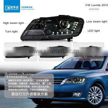 Headlight within high beam light turn light led light vw car radio android for Vw Lavida 2013