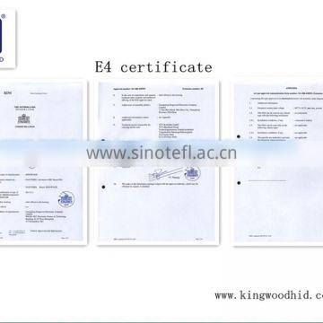 E-MARK AND ISO9001 Certification and HID Xenon Lamp Type HID Kit