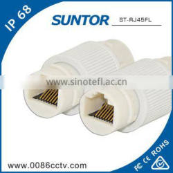 Wholesale White Mini IP68 Waterproof Ethernet RJ45 Cable Connector Price