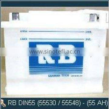 High Quality RB DIN55 Europe Car Dry Auto Battery
