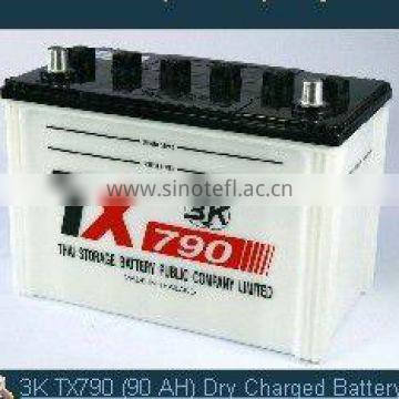 3K TX790 (90 AH) Dry Charged Auto Battery