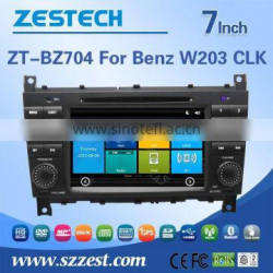 High performance dual-core in-dash Car dvd headunit for BENZ W203 CLK with Rear View Camera GPS BT Phonebook TV Radio