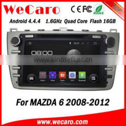 Wecaro in dash touch screen Android 4.4.4 car gps navigation dvd player for mazda 6 car audio system 2008 -2012
