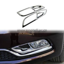 2Pcs/Set Front Head Fog Light Lamp Cover ABS Chrome Trim Car Decoration Accessories For Kia K3 2013 2014