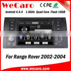 """Wecaro 7"""" android 4.4.4 car muitimedia system for range rover touch screen car dvd player 2002 2003 2004"""