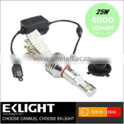 Color Temperature Best Led Car Headlight Conversion Kit H4 9004 9007 H13 High Power Led Non-Polarity No Fan Headlamp Bulb