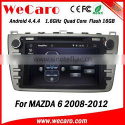 "Wecaro Android 4.4.4 car dvd player 8"" quad core car media player for mazda 6 car stereo wheel steering control 2008-2012 Quality Choice"