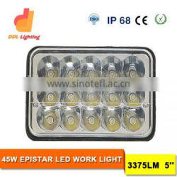 Wholesale price 45W 5inch LED driving work light with 3375LM LED work light for truck