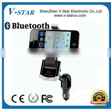 Magnetic car holder, bluetooth handsfree and car charger 3 in 1 functions