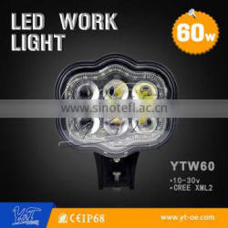 New 6Inch 60W Led Work Light Flood Spot Truck light