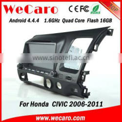 Wecaro android 4.4.4 car dvd player high quality for civic dvd OBD2 right hand drive 2006 - 2011