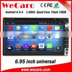 "Wecaro WC-2U6005 android 4.4.4 2 din 6.95"" car dvd player for universal car stereo with gps bluetooth radio wifi 3g playstore"