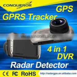 TAIWAN direct factory offer car dvr gps radar detector with gps tracker