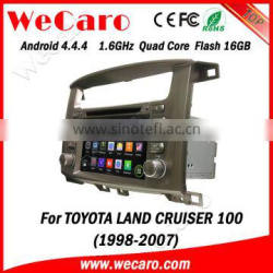 "Wecaro WC-TL7020 7"" Android 4.4.4 car multimedia system in dash for toyota land cruiser car stereo android 1998-2007"