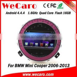 Wecaro Android 4.4.4 car multimedia system quad core car dvd gps for bmw mini cooper car stereo 1080p 2006 - 2013 Quality Choice