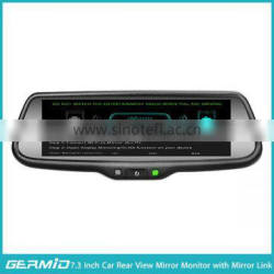 car networking wireless mirror link with 7.3 inch full display HD lcd monitor