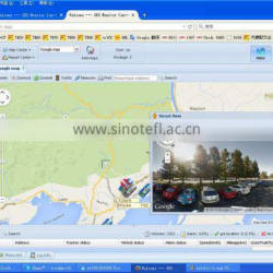 Cars Gps Tracking Software Compatible With meitrack/conban/bofan with street view google map
