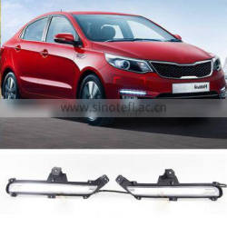 New 12V Guiding LED DRL Modified Daytime Running Light Fog Lamp For KIA K2 RIO 2015 Quality Choice