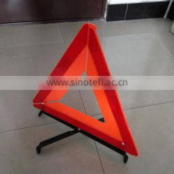 car warning triangle with high reflective material