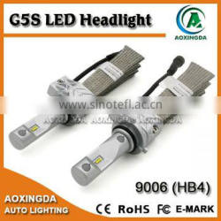 2016 LED headlight G5S 9005 9006 H10 H8 H11 HB3 HB4 4000LM LED headlight with ZES chip