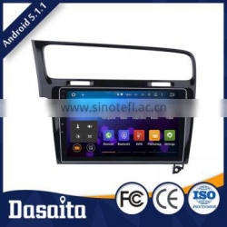 10.2 Inch 2 din 1024 600 Android 5.1.1 CPU 16 GB Black screen car gps dvd player OEM for vw golf 7 2013