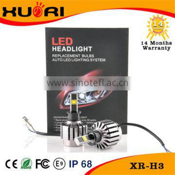 high power mortorcycle parts 30w 2800LM light motorcycle led headlight