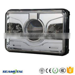"4""X6"" Inch Car Universal 25W 2000LM With CREE Chips LED Headlight Head lamp DOT Approved"