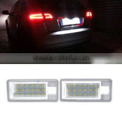 1 Pair Car 3W 12V 18LED Rear Tail License Plate Light Pure White Lamp For Audi A3 A4 S4 S6 A8 RS4 RS8 Q7 Quality Choice