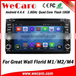 Wecaro WC-GW7233 Android 4.4.4 radio indash for Great wall Florid M1 M2 M4 dvd player 2013 BT gps 3g TV