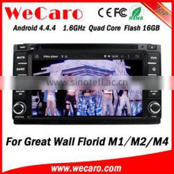 Wecaro WC-GW7233 Android 4.4.4 car gps 2 din for Great wall Florid M1 M2 M4 multimedia player TV tuner