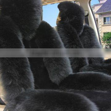 Factory price high quality winter warm luxury sheepskin wool car seat covers car keep you out the cold, long hair