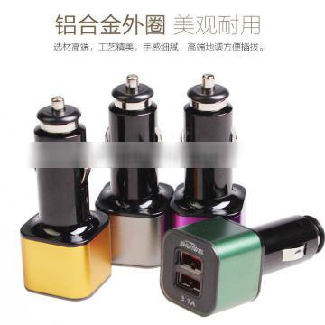 2017 hot style 3.1 amp car charger With ISO9001