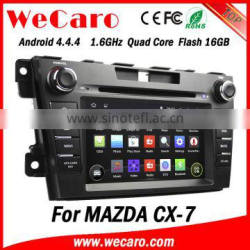 """Wecaro Android 4.4.4 navigation system 7"""" touch screen car dvd player for mazda cx-7 WIFI 3G mirror link"""