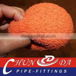 DN125(5'') natural sponge,soft Concrete pump cleaning ball for Kyokuto
