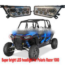 Front LED headlight assembly for any Polaris rzr 1000 led head lamp
