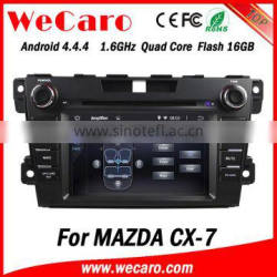 """Wecaro Android 4.4.4 navigation system 7"""" double din for mazda cx-7 autoradio car dvd gps car stereo tv tuner"""