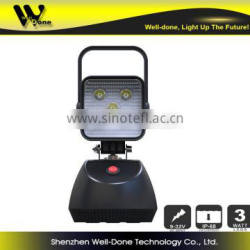 15w battery powered magnetic led work light , emergency sos flashing lights
