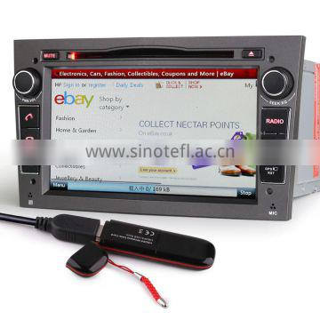 "Erisin ES7060P 7"" Double Din Car DVD Player with GPS for Opel Zafira Antara"