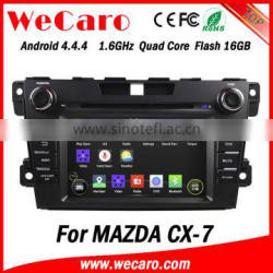 Wecaro in dash 2 din touch screen Android 4.4.4 radio multimedia car dvd player for mazda cx 7 car dvd gps navigation system