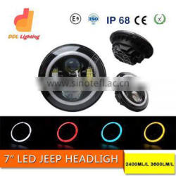 high low beam 4x4 offroad 7 inch round 47w jeep led headlights with angel eyes