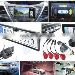 6 year manufacturer night vision car rear view camera parking sensors, Rearview mirror option