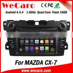 Wecaro WC-MZ7007 android 4.4.4 car dvd player for mazda cx-7 2007 - 2014 3G wifi playstore Quality Choice
