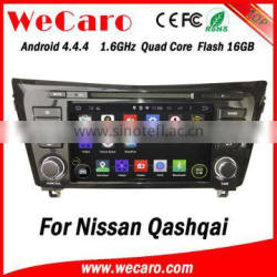 Wecaro in dash touch screen android 4.4.4 car multimedia dvd player navigation system for nissan qashqai radio dvd