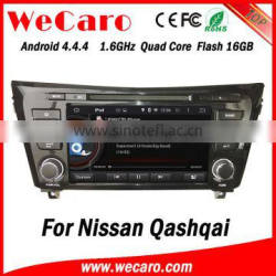 "Wecaro Android 4.4.4 car dvd player 8"" quad core for nissan qashqai double din car radio Android bluetooth 2014 2015"