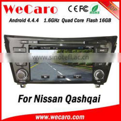 "Top Version Android 4.4.4 car dvd 8"" 1024 * 600 for navigation system for nissan qashqai Android 16GB Flash 2014 2015"