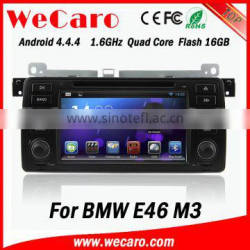 """Wecaro Android 4.4.4 touch screen 7"""" navigation systesm for bmw e46 dvd player mirror link bluetooth 1998-2005"""