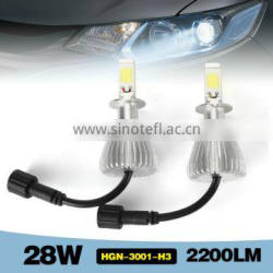 car led H13 headlight bulb 28W 2200LM in auto lighting system